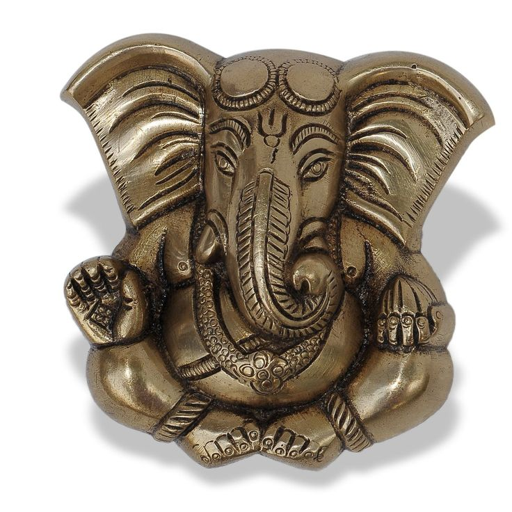 Long Ear God Ganesha Brass Statue Wall Hanging: Amazon.co.uk: Kitchen & Home