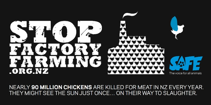 Stop Factory Farming billboard
