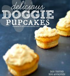 Homemade Doggie Cupcakes *Pup-Cakes* #pets #recipes