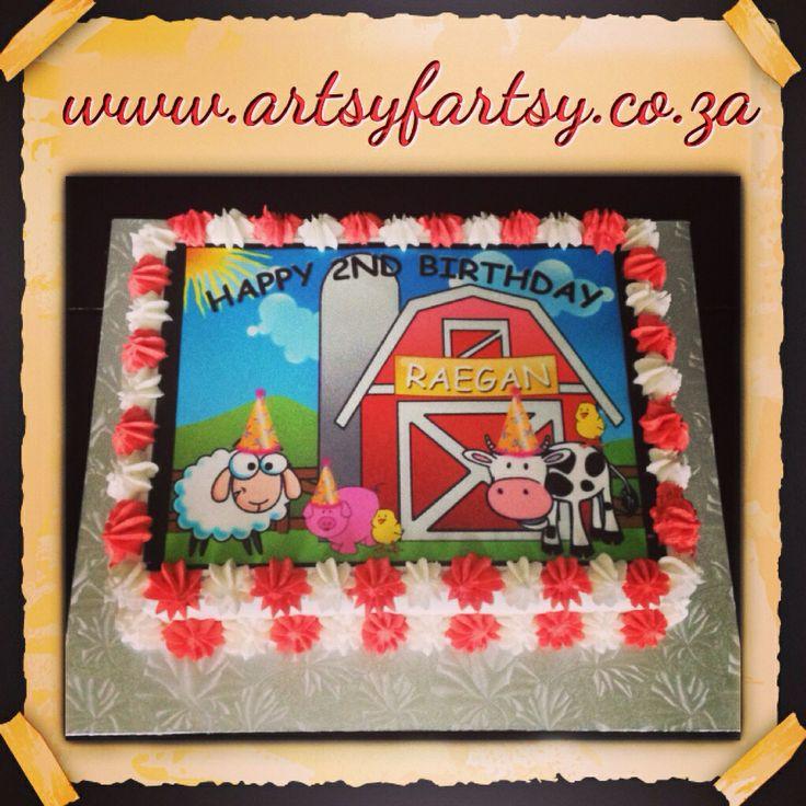 Farmyard Edible Picture Cake