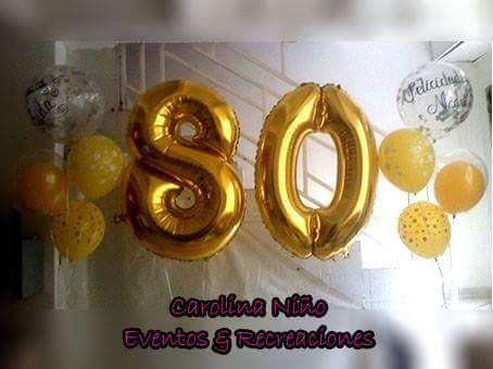 Globos metalizados números 80 $28.000 c/u Contactenos 3727281-3153170602 Cali- Colombia