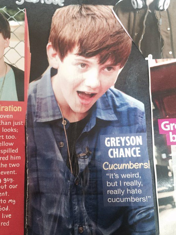 """Greyson Chance on Twitter: """"Not a lot has changed... I still really fucking hate cucumbers... https://t.co/54VBaWSsO0""""  i am very alone greyson with you may lets go struggle tagalog to part of meet is i like hot sex with you"""