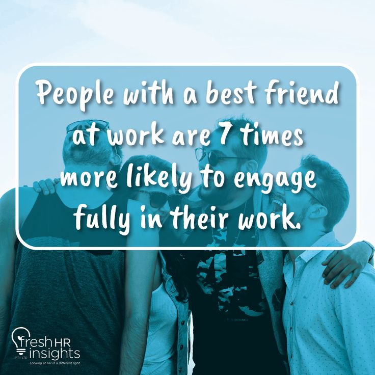 Workplace friendships yield more productive employees, and it's not just because friends are easier to work with. #Hobart #Geelong #Cryna #Currumbin #CurrumbinValley #CurrumbinWaters #Darlington #Thursdate #FunFact #Trivia #Didyouknow