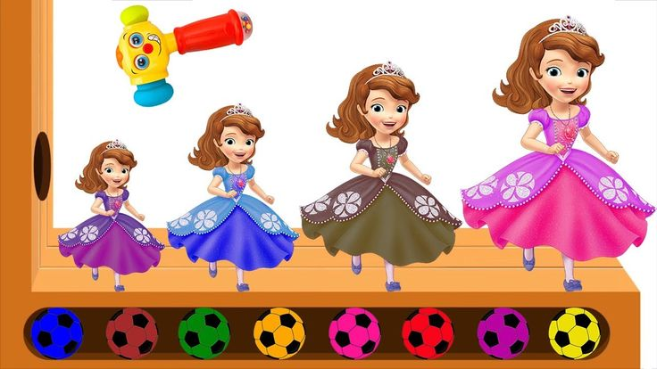 SOFIA THE FIRST Colors Learn Finger Family Song Learn Colors SOFIA Socce...