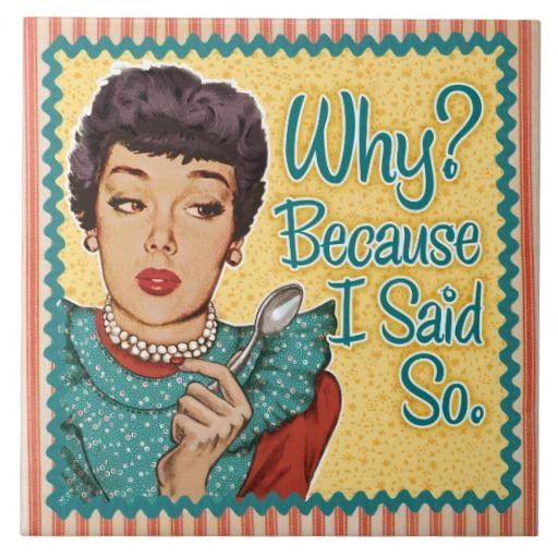 Retro huisvrouw - Why? Because i Said So.