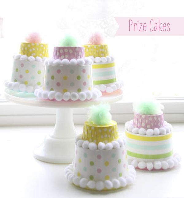 candy cup prize cakes {abby hunter for shop sweet lulu}