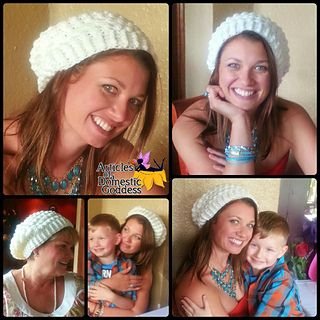 Sherri Berry Reversible Cluster Slouchy Beanie Crochet Pattern from Articles of a Domestic Goddess