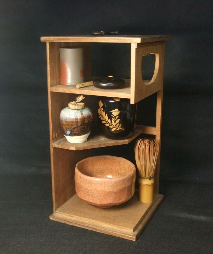 B783: Must! Japanese full set of tea things with VERY RARE wooden CHABAKO   eBay