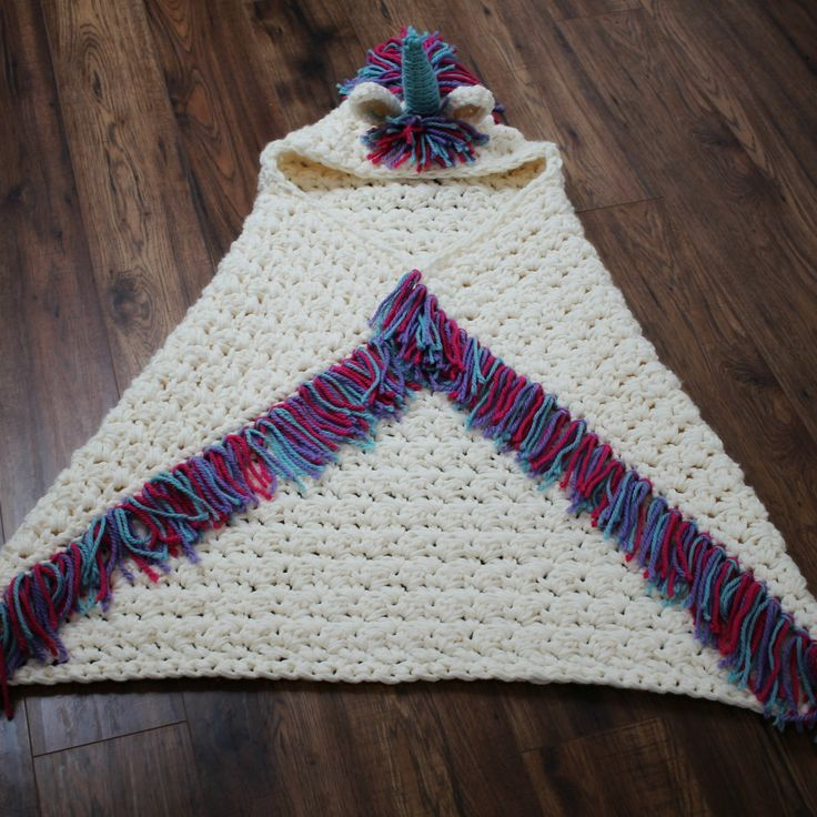 Ravelry: Bulky & Quick Unicorn Blanket /Cowl by MJ's Off The Hook Designs