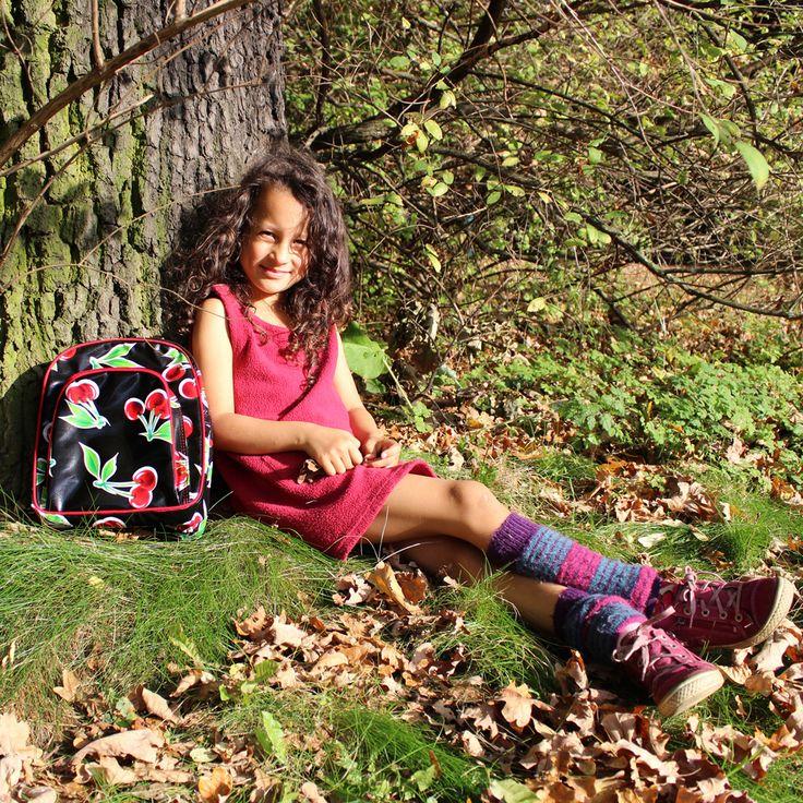 Kinderrucksack aus mexikanischem Wachstuch. Handgenäht und fair produziert. Ein Musthave für den Wandertag.