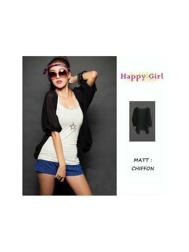 Chiffon Black Cardigan JK374-LOCAL Condition  New   Cardigan chiffon hitam all size loose retail IDR74,000reseller IDR55,500wholesaller IDR48,100