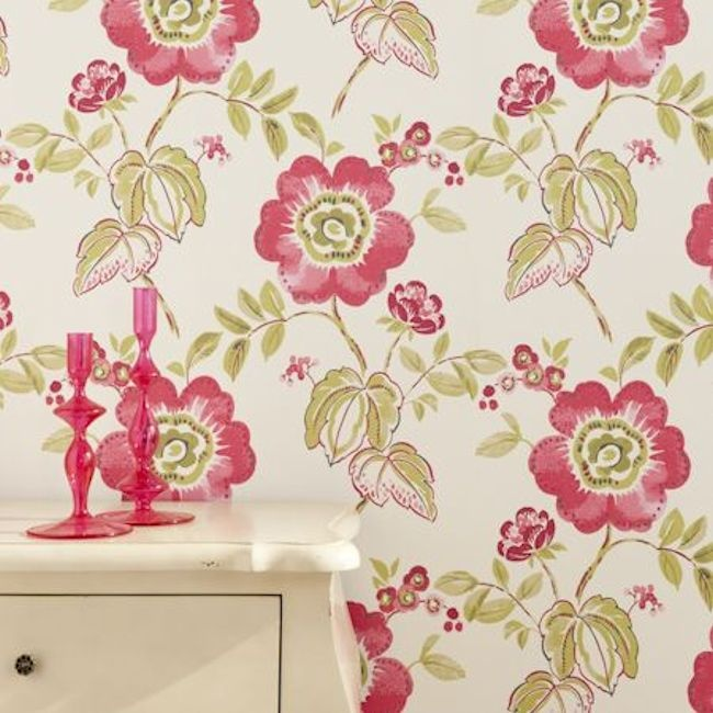 Showstoppers Wallpaper, Rosita design, by Clarke & Clarke.  Available in 3 colours.  Wallpapershop.com.au