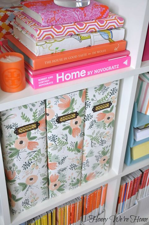 How to make pretty boxes made from shoe boxes and wrapping paper