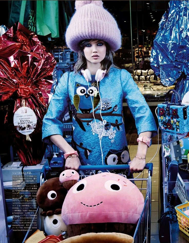 my market day: lindsey wixson and hanne gaby odiele by giampaolo sgura for vogue october 2014