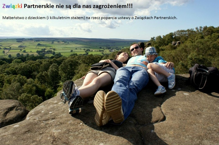#Poland Civil partnerships are not a threat to us!!! Married couple with a child.
