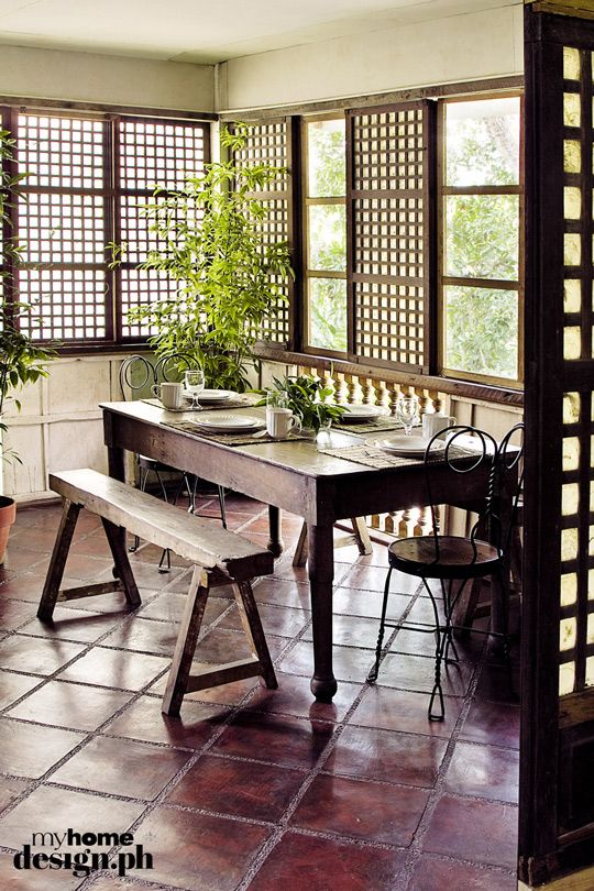 51 best bahay kubo interior exterior images on pinterest for Dining room designs philippines