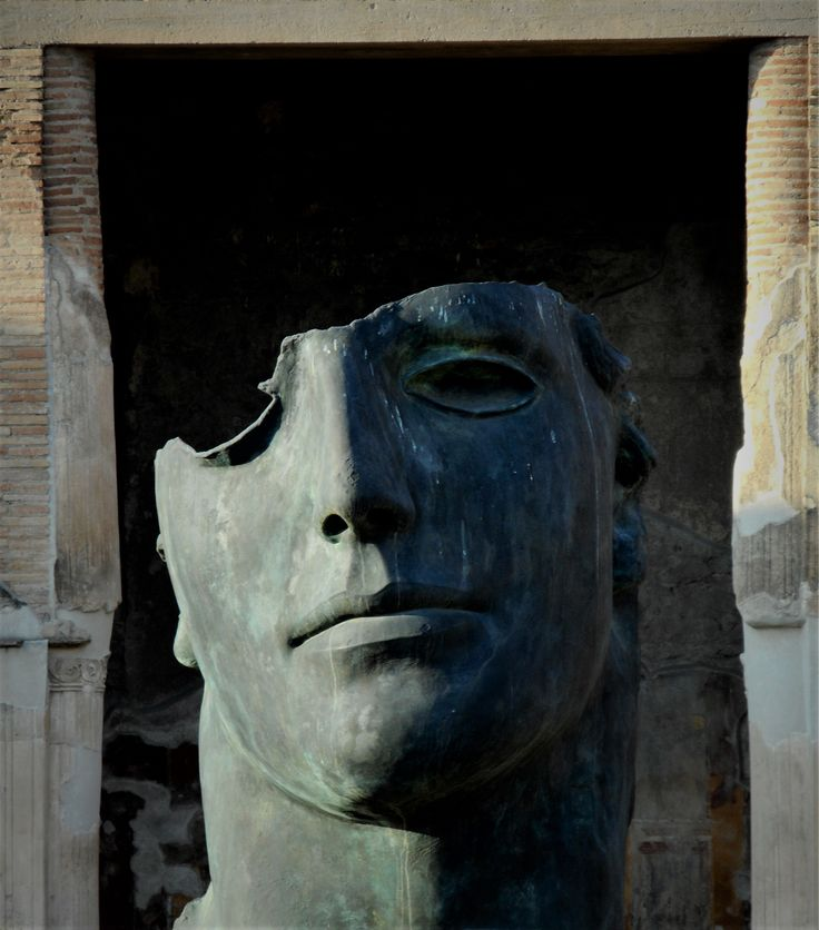 sculpture by Igor Mitoraj in Pompeii