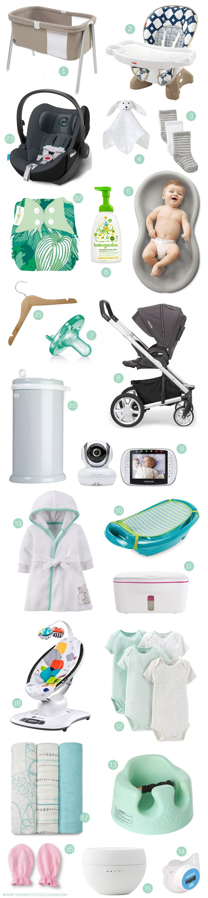 Updates at 30 weeks pregnant and Cyd's picks for baby registry essentials - see them all at The Sweetest Occasion!
