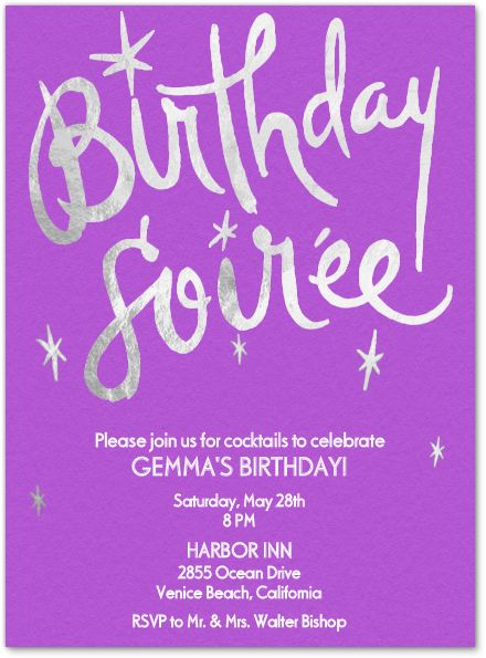 94 Best Birthday Invitations Cards And Ideas Images On Pinterest