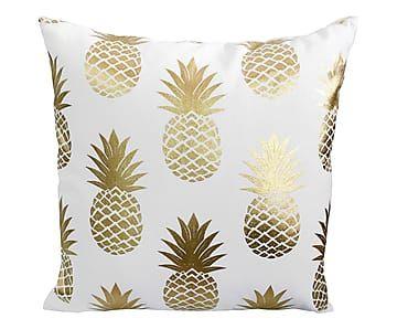 Coussin ananas blanc et dor 45 45 35 product cute pillows pinterest - Deco chambre dore ...