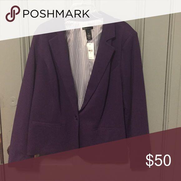 Lane Bryant blazer NWT eggplant purple blazer Lane Bryant Jackets & Coats Blazers