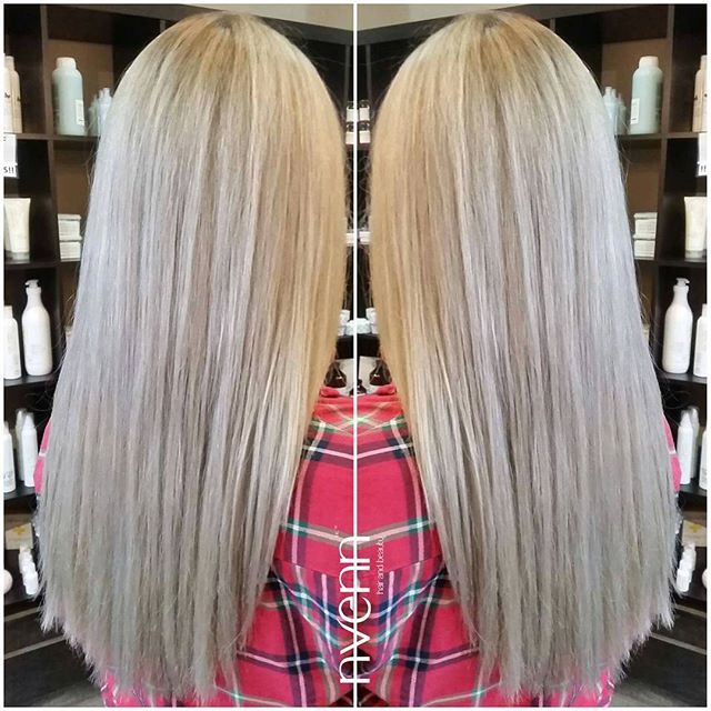 it's more than hair... it's BLONDE HAIR <3 &this ashy platinum blonde could steal anyone's heart.   what do you think? xoxo    #blondehair #ashblonde #platinumblonde #blondehaircare #blondes #yehgair #yychair #nvennhairbeauty #nvenninc #bbloggers #stylists