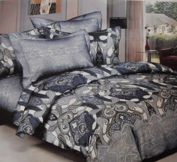 Buy Online Grey And Blue Colour Bed Sheet Set Products In India, Order Or  Call Now! Order Now Grey And Blue Colour Bed Sheet Set Products Online In  India.