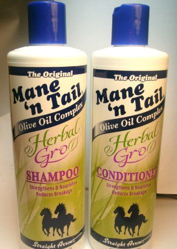 mane n' tail Herbal Grow. Grew my hair in a couple of weeks of use. Love it. This brand was originally made for horses- to make their mane and tail nice and long for horse shows. But the stuff is gentle enough for humans and very effective.