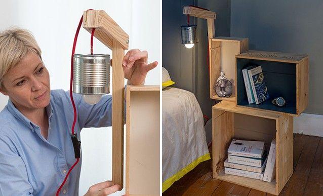 Astuce r cup des caisses en bois pour fabriquer une - Fabriquer une table de chevet ...