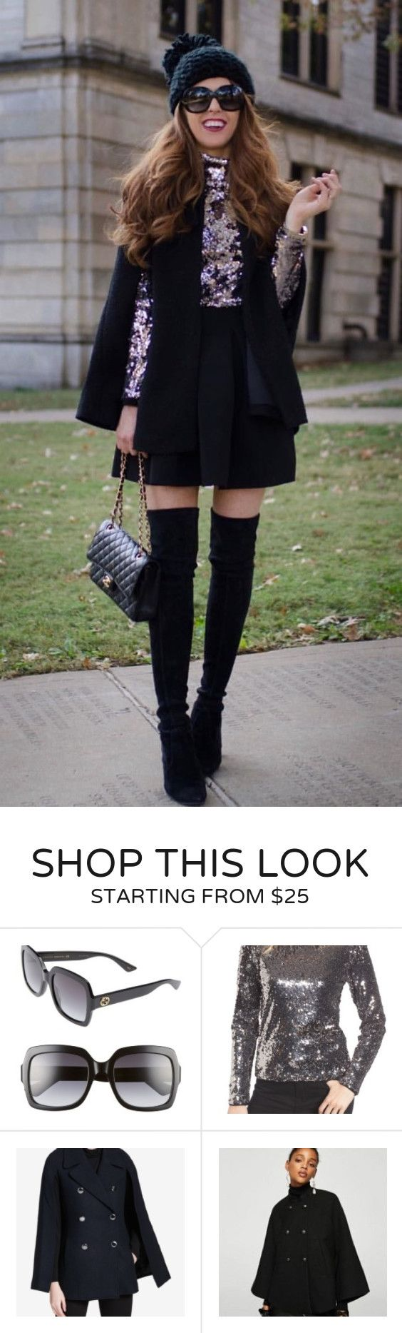 #fall #outfits women's black blazer and black mini skirt. Click To Shop This Look.