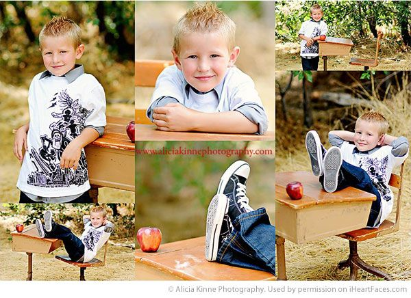 Back to School Photography Ideas via iHeartFaces.com - Portrait Photography by Alicia Kinne Photography