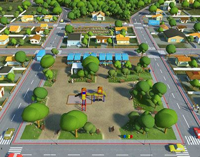 """Check out new work on my @Behance portfolio: """"3D Industrial district used in educational game"""" http://on.be.net/1ClawmJ"""