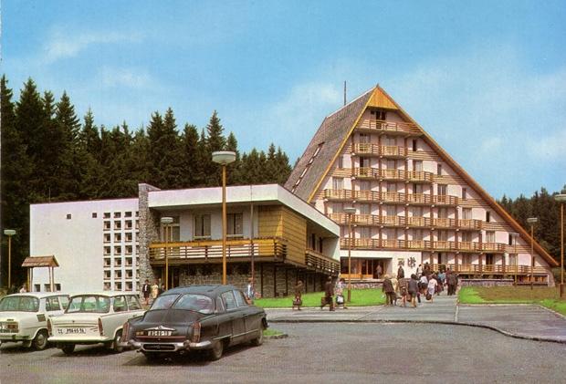 Czechoslovakia Hotel Ski postcard
