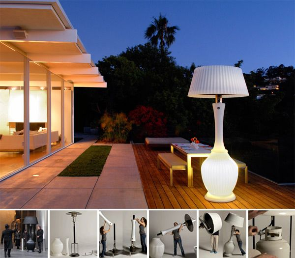 Kindle Heat Lamps. Looks like a giant lamp & provides heat for outdoor patios! :) #WARM
