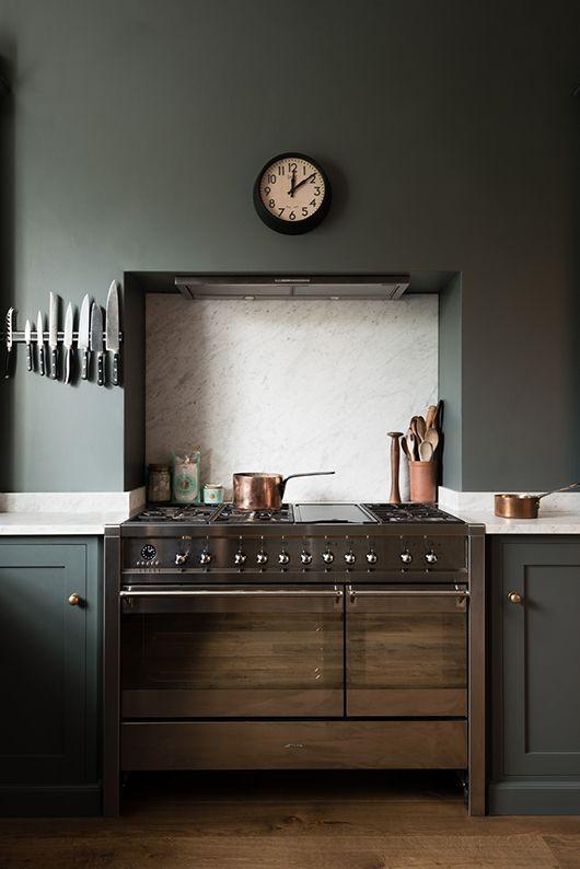 london kitchen with walls painted flint / sfgirlbybay