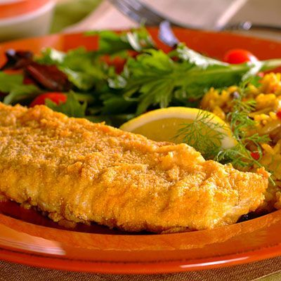 You'll find this Oven-Fried Fish recipe surprisingly tasty and crunchy. It's a delicious preparation that will please the fish lovers in your family and it's ready in 30 minutes.