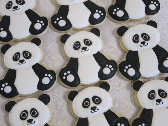 Forest Friends Decorated Sugar Cookies: Panda by MartaIngros