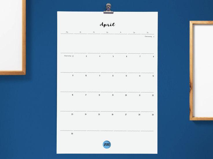 Großer Monatskalender | Wandkalender 2017/2018 | Geschenk zum EInzug |Semesterbeginn | Familienorganisation von memareDesign auf Etsy