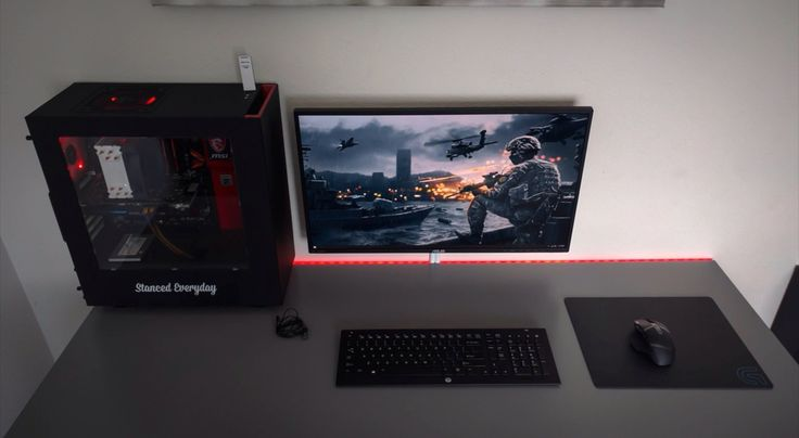 Single Monitor Setup Gaming Setup In 2019 Pc Gaming