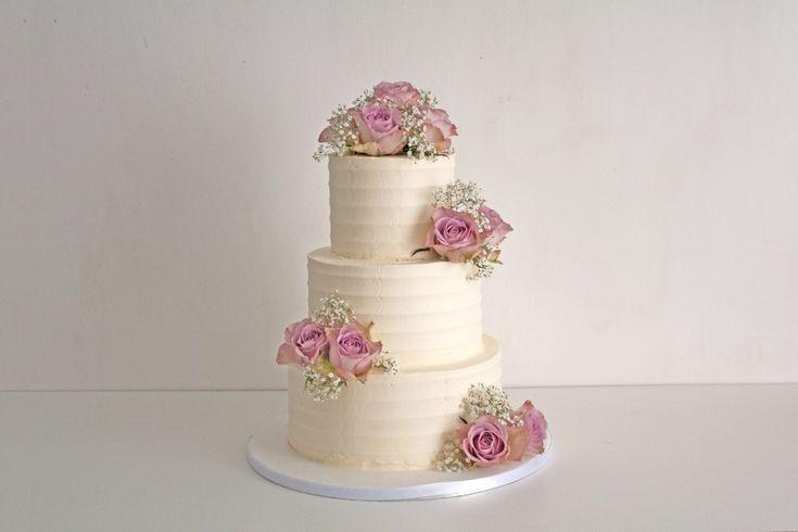 Hochzeitstorte mit echten Blumen (Custom) (Custom)