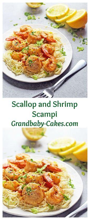 Scallop and Shrimp Scampi Recipe   Grandbaby-Cakes.com