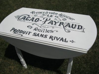 stencil and paint a garage sale table