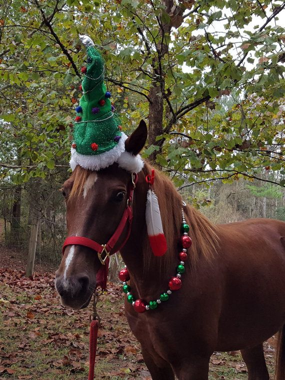 Christmas Tree Hat for Horse or Pony -- Equine Christmas ...