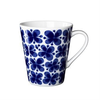 Rörstrand Mon Amie Mug.   The Mon Amie, or My Friend, line of dinnerware was first designed in the 1950s. Inspired by a rainy summer's eve, this pattern has become a Swedish design icon and an everlasting favorite.