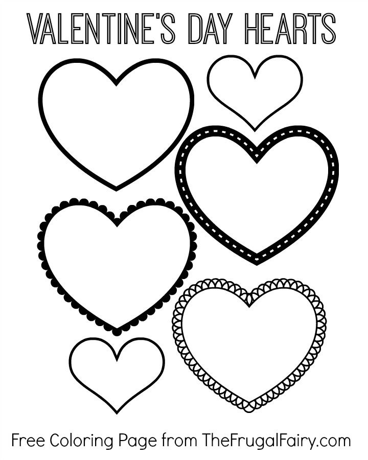 free valentines day hearts coloring page the frugal fairy