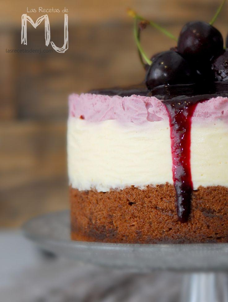 Tarta de queso de cerezas / Cherry Cheesecake