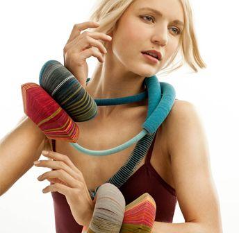 Angela O'Kelly's wearable art Bangles, collaborates with British Iranian fashion designer Shirin Guild €525