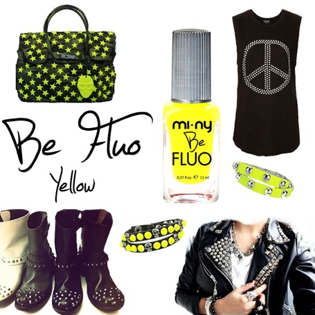 BE FLUO YELLOW @minycosmetics