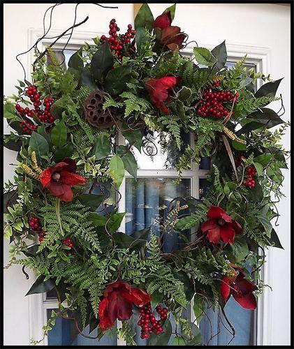 """""""Rustic & Natural"""" Designer Door Wreath - Petal Pusher's"""
