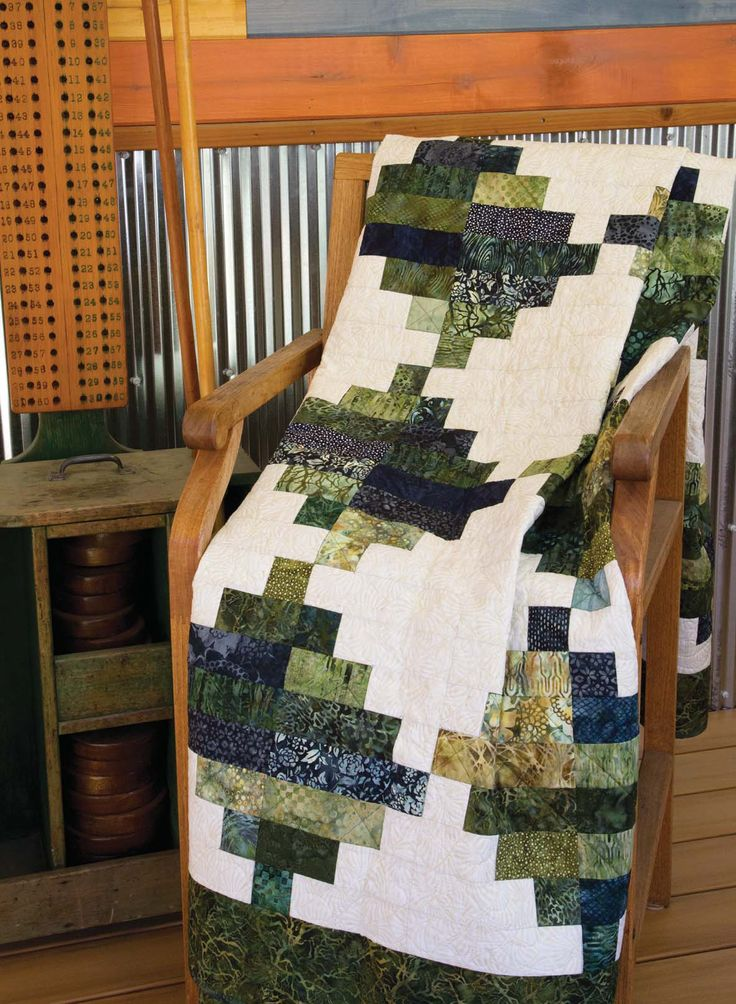 Malachite quilt pattern: Dig into your batiks to make this easy-to-piece throw quilt designed by Scott Flanagan!